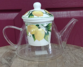 Lemon Tree glass teapot with infuser Glass teapot
