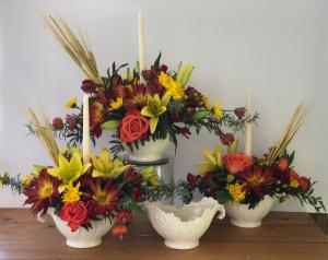 Lenox Keepsake Gravy Boat  Thanksgiving Arrangement  in Pensacola, FL | JUST JUDY'S FLOWERS, LOCAL ART & GIFTS