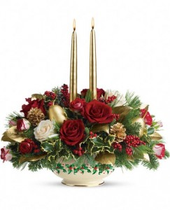 EXCLUSIVELY AT FLOWERS TODAY FLORIST Lenox Holly Day Centerpiece                                                      Keepsake Ceramic Bowl                                            in New Port Richey, FL | FLOWERS TODAY FLORIST