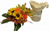 Lenox Keepsake Gravy Bowl Cut Flowers in Oasis