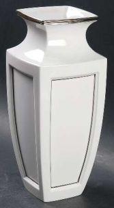 Lenox Platinum 9 Inch  White Porcelian Vase