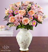 Lenox Vase with roses and more! Gorgeous Keepsake arrangement