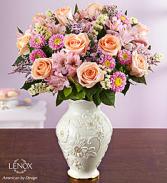Lenox Vase with roses and more! Gorgeous Keepsake arrangement