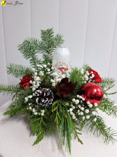 X-Mas-Let it Snow! Christmas Centerpiece that lights up!