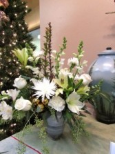 Let it Snow Custom Fitzgerald Flowers Arrangement