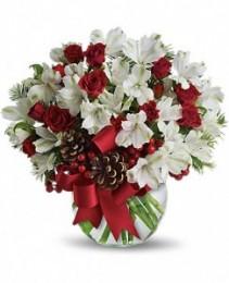 Let It Snow Flower Arrangement