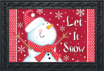 Let it Snow!  Indoor/Outdoor Mat