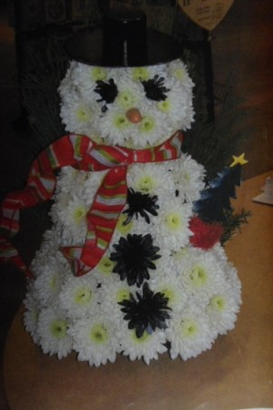 Let it snow Let it snow  Fresh Snowman in Bowerston, OH | LADY OF THE LAKE FLORAL & GIFTS