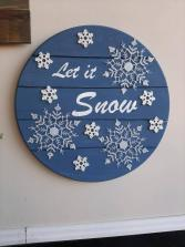 Let It Snow Wall Sign