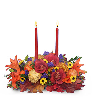 LET US GIVE THANKS Floral Centerpiece in Lansing, MI | Jon Anthony Florist