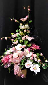 Let's shine silk arrangement