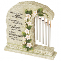 Life, Love ,Places & Memories Garden stone with Chimes
