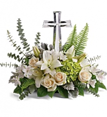 "Life's Glory   T284-2A Large 11"" Crystal Cross"
