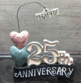 Lifetime of Love 25th ornament 25th Anniversary Giftware