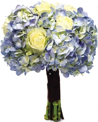 LIGHT BLUE BRIDAL BOUQUET