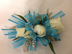 Light Blue  Corsage in Winston Salem, NC | RAE'S NORTH POINT FLORIST INC.