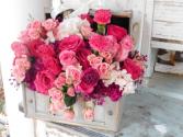 Light colored flower Box Flower Box