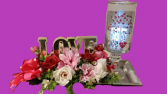 Light of My Life Fresh Flowers with Keepsake Candle Holder