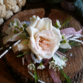 Light Pink Rose Corsage Wrist Corsage