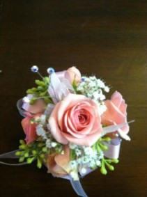 Light Pink Rose Wristlet Corsage
