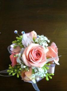 Light Pink Rose Wristlet Corsage