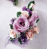 Light purple corsage