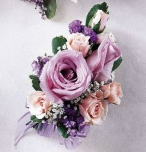 Light purple corsage