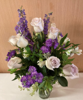 Light Side of Lavender Vase Arrangement