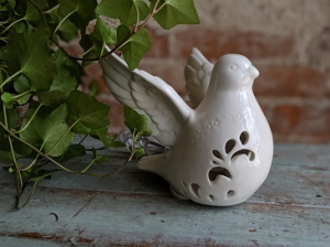 Light Up Ceramic Dove Gift Item in Middletown, IN | The Flower Girl