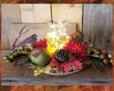 Light Up Fall silk arrangement