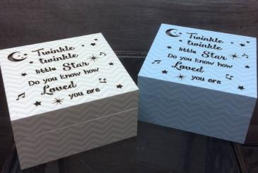 Light up keepsake box Baby gift