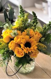 Light Up My Life Vase Arrangment