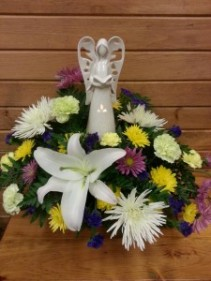 Lighted Angel Arrangement