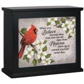 Lighted Cardinal Box Sympathy Keepsake