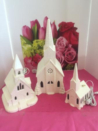 Lighted Ceramic Musical Churches