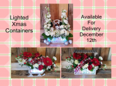 Lighted Keepsake Containers Xmas Special