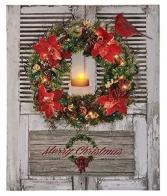 Lighted LED Merry Christmas Picture Gift Item
