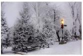 Lighted LED Snowfall in the Park Picture Gift Item