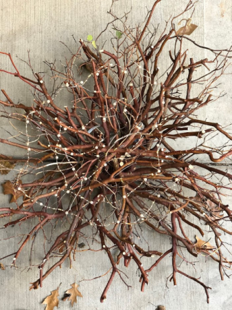 Lighted Manzanita Branch Wreath Wreath