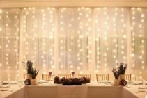 Lighted Pole and Drape