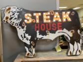Lighted Sign 'Steak House' Texas Made