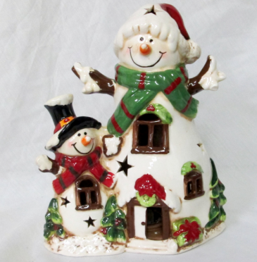 Lighted Snowman Gift Item
