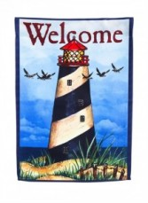 Lighthouse Americana Garden Flag
