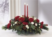 LIGHTS OF THE SEASON Christmas Candle Centerpiece