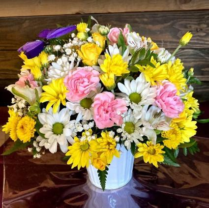Lil' Bucket of Smiles Fresh Flower Arrangement