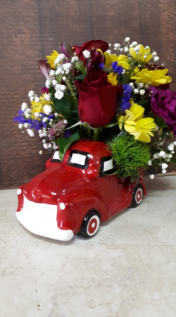 Lil Red Truck centerpiece