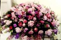 Lilac Color Bouquet Casket Spray