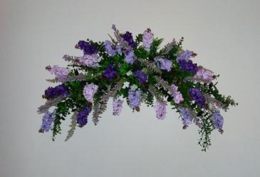 Lilac Wall Swag Wedding Arch