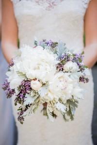 Lilacs Peonies Bridal Bouquet