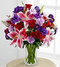 LILIES AND PURPLE Mothers Day